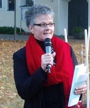 Sonja Elser bei der Rede 100 Jahre Frauenwahlrecht
